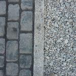 Stein Kies Weg Einfassung