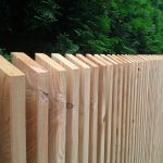 Holzzaun aus Lärchenholz