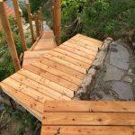 Treppe zur Holzterrasse(Lärche)